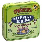 Thayers Slippery Elm, Pure Maple Sugar, Lozenges