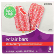 Food Club Strawberry Vanilla Ice Cream Eclair Bars With A Strawberry Core Covered With Cake Crunch