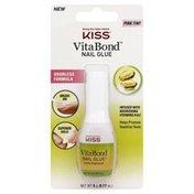 Kiss Nail Glue, Pink Tint