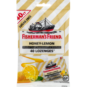 Fisherman's Friend Fishermans Friend Cough Suppressant/Oral Anesthetic, Menthol, Sugar Free, Lozenges, Honey-Lemon, Bag
