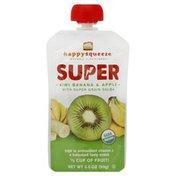 Happy Squeeze Snack, Kiwi Banana & Apple, with Super Grain Salba