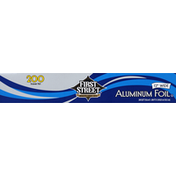 First Street Aluminum Foil, 12 Inches Wide, 200 Square Feet