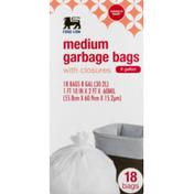 Food Lion Garbage Bags, With Closures, Medium