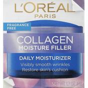 L'Oreal Daily Moisturizer, Collagen Moisture Filler, Fragrance Free