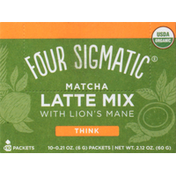 Four Sigmatic Latte Mix, Matcha, Think, 10 Pack