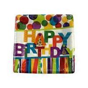 Happy Birthday Hooray Plate Dessert