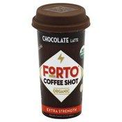 Forto Coffee Shot, Organic, Extra Strength, Chocolate Latte, Mocha