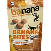 barnana Banana Bites, Organic, Peanut Butter, Dipped, Chewy