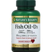 Nature's Bounty Fish Oil + D3, Rapid Release Softgels