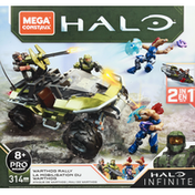 Mega Construx Toy, Halo Set, Infinite, 2 in 1, Warthog Rally
