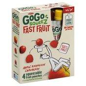 GoGo Squeez Fast Fruit, Apple Raspberry Cranberry