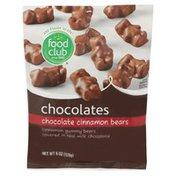 Food Club Chocolate Cinnamon Bears Cinnamon Gummy Bears Covered In Real Milk Chocolate