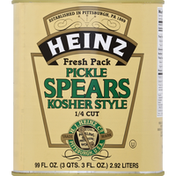 Heinz Pickle Spears, Kosher Style, 1/4 Cut