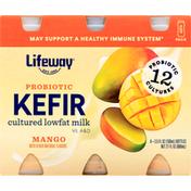 Lifeway Kefir, Probiotic, Mango, 6 Pack
