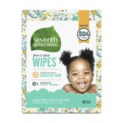 Seventh Generation Sensitive Baby Wipes With Flip-top Dispenser Free & Clear