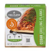 Fire & Flavor All Natural Cedar Grilling Planks - 4 CT