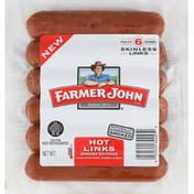Farmer John Sausage, Smoked, Hot Links