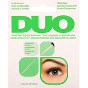 DUO Striplash Adhesive, Brush On, White/Clear