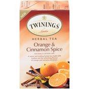 Twinings Orange Cinnamon Spice Herbal Tea Bags