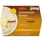 Hy-Vee Mashed Potatoes, Homestyle Butter, Microwaveable