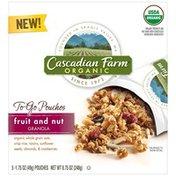 Cascadian Farm To-Go Granola Pouches Fruit & Nut Granola