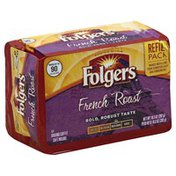 Folgers Coffee, Ground, Med-Dark, French Roast, Refill Pack