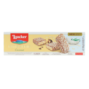Loacker Patisserie Coconut, Crème-filled Milk Chocolate Wafer Biscuit