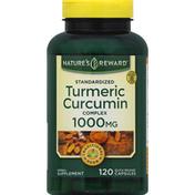 Nature's Reward Turmeric Curcumin Complex, Standardized, 1000 mg, Quick Release Capsules