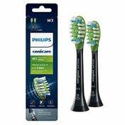 Philips Sonicare Premium White replacement toothbrush heads, HX9062/95, BrushSync technology, Black