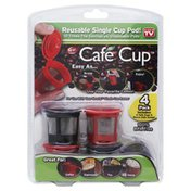 Cafe Cup Reusable Single Cup Pod, Blister