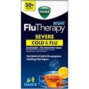 Vicks Flu Therapy Night, Honey Lemon Flavor