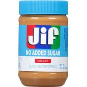 Jif Peanut Butter Spread, No Added Sugar, Creamy
