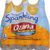 Ozarka Water, Natural Spring, Sparkling Mandarin Orange