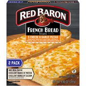 Red Baron French Bread Singles 5 Cheese & Garlic Pizzas