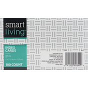 Smart Living Index Cards, White
