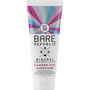Bare Republic Sunscreen Lotion, Mineral, Diamond Dust, Broad Spectrum SPF 30