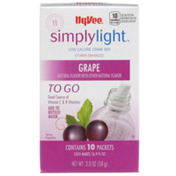 Hy-Vee Simplylight, Grape Low Calorie Drink Mix To Go