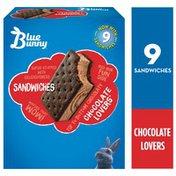 Blue Bunny Chocolate Lovers® Sandwich