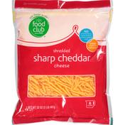 Food Club Shredded Cheese, Sharp Cheddar