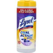 Lysol Wet Wipes, Dual Action, Citrus Scent