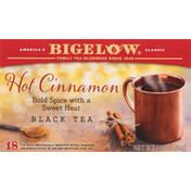 Bigelow Black Tea, Hot Cinnamon, Tea Bags