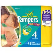 Pampers Baby Dry Jumbo Pack Size 4 Diapers