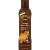 Hawaiian Tropic Creme Lotion, Tanning, 2 UVB/SPF with UVA