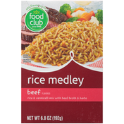 Food Club Beef Flavored Rice & Vermicelli Mix With Beef Broth & Herbs Rice Medley
