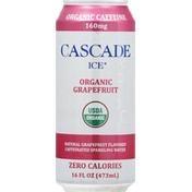 Cascade Ice Sparkling Water, Organic, Grapefruit, Caffeinated