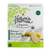 Nature's Promise Rice Rusks, Organic, Banana, 6+ Months