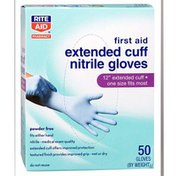 """Rite Aid 12"""" Extended Cuff Nitrile Gloves"""