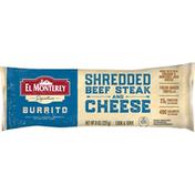 El Monterey Burrito, Shredded Beef Steak and Cheese