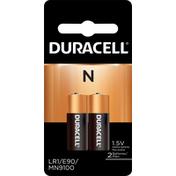 Duracell Batteries, Alkaline, N, 1.5V, 2 Pack