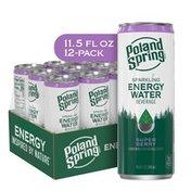 Poland spring Sparkling Energy Water Beverage Super Berry Flavor